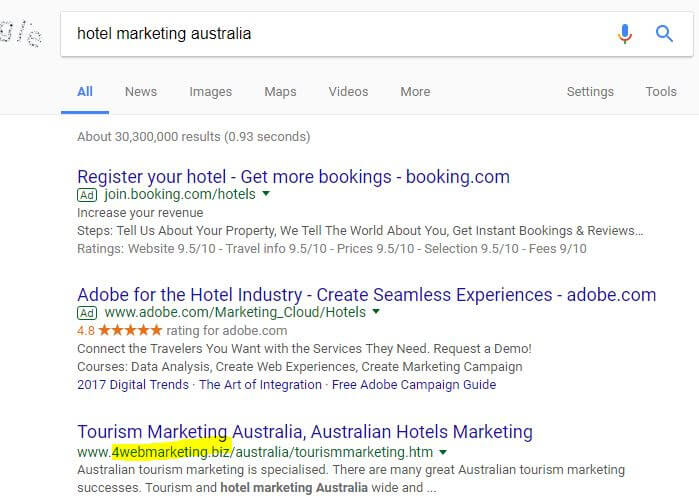 Hotel marketing Gold Coast Australia